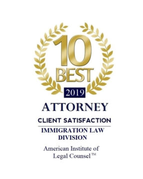Familia America, LLC Has Been Nominated and Accepted as 2019 AIOLC's 10 Best Immigration Attorneys in Utah For Client Satisfaction
